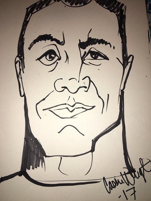 Get a black n white caricature