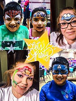 face painting, parties, paint, spiderman, kids, balloon