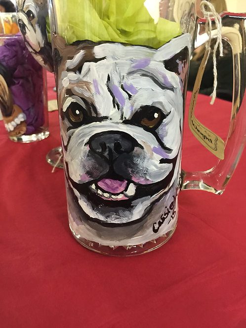 Personalized glass of pet