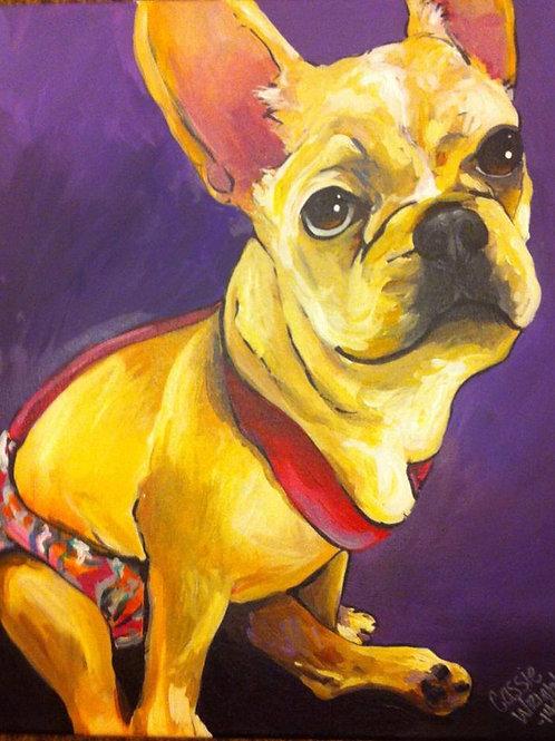 """24""""x24"""" Pet portrait -one pet"""