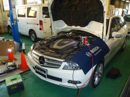 メルセデスベンツ Mercedes ベンツ C300 W204 バッテリー交換 ボッシュ シルバーバッテリ 群馬 館林