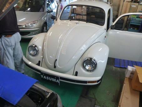VW ビートル メキビー メキシコ ビートル シートレールブッシュ交換 シートがたつき修理 群馬 館林