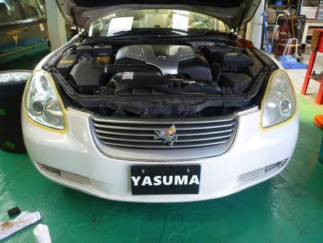 トヨタ ソアラ UZZ40 エアコン効かない ガス漏れ修理 エアコンガス補充 群馬 館林