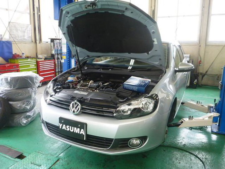 VW ゴルフⅥ 車検 エンジンオイル漏れ修理 群馬 館林