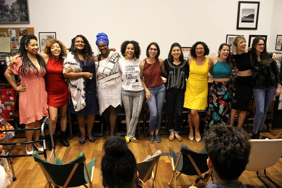 Autoras do livro no lançamento em São Paulo
