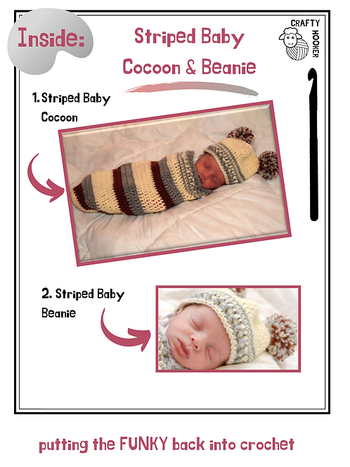 Striped Cocoon & Beanie