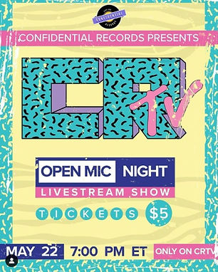 CRTV Open Mic Poster