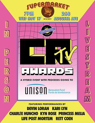CRTV Awards Concert Poster