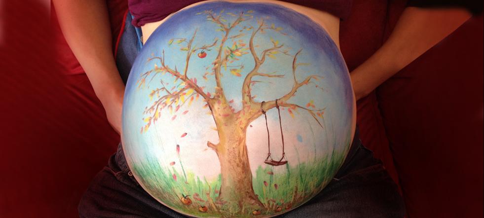 Babybauch Baum