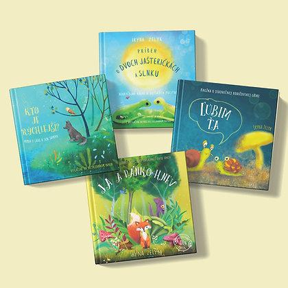 Štyri knižky podľa vlastného výberu za zvýhodnenú cenu