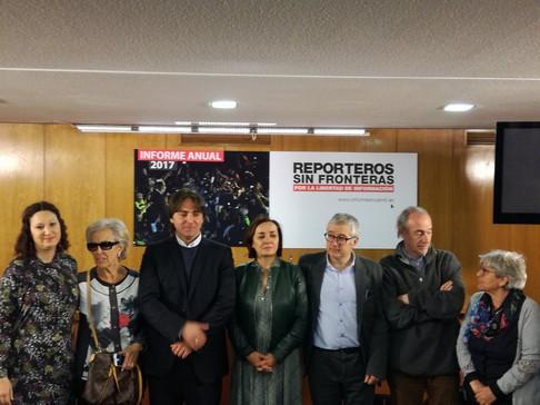 Reporteros sin fronteras, 2017