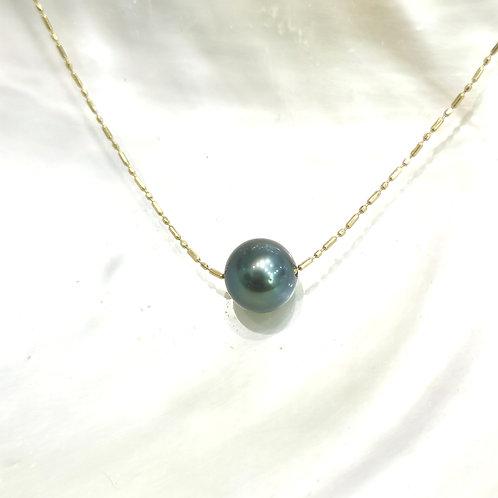 perle de tahiti sur chaine or jaune