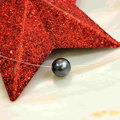 Collier nylon perle de Tahiti SR 9/10mm