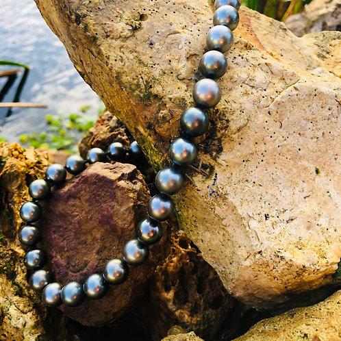 collier perles noires de Tahiti