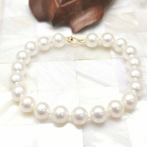 bracelet perles blanches shamani creaperles