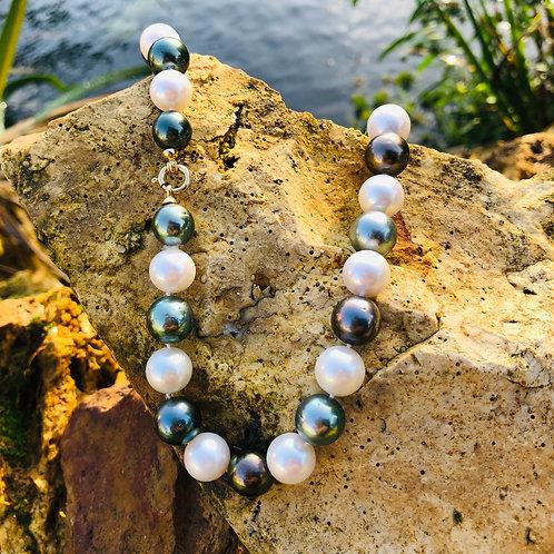 Collier perles de Tahiti et Australie