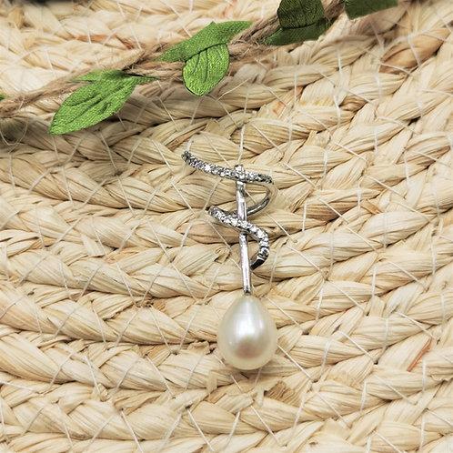 pendentif perle blanche paris