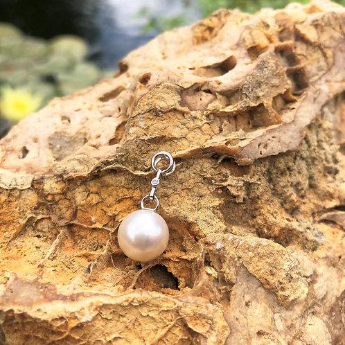 pendentif perle blanche