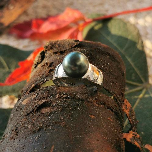 Bague jonc perle de Tahiti 9mm