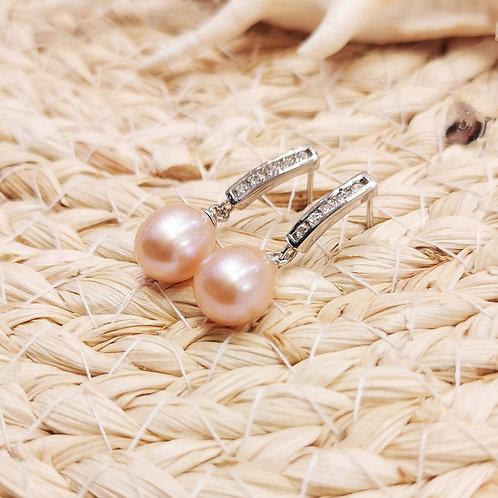 boucles d'oreilles pendantes perles poires