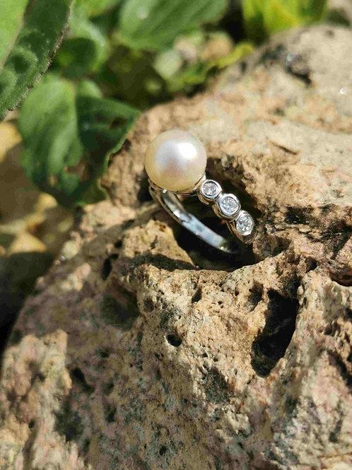 bague perle  shamani creaperles