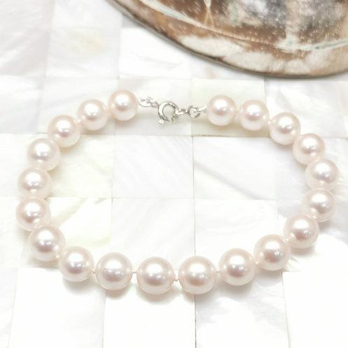 bracelet perles blanches shamani creaperles