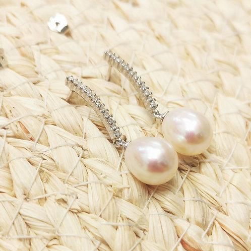 boucles d'oreilles pendantes perles poires shamani