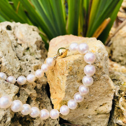 collier perles blanches shamani