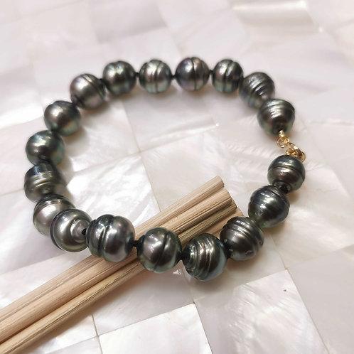 Bracelet perles de Tahiti shamani creaperles