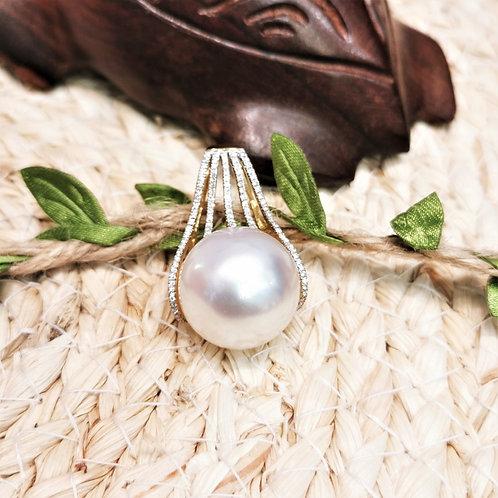pendentif perle d'australie 17mm