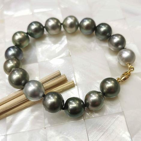 bracelet perles de Tahiti shamani creape