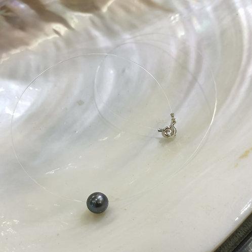 Collier nylon perle de culture de Tahiti