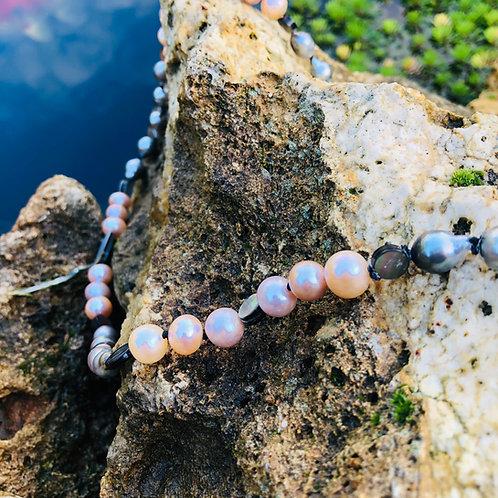 sautoir perles noires de tahiti