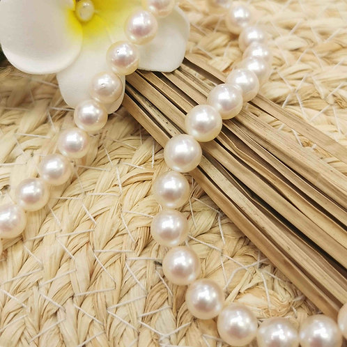 collier choker perles blanches akoya du Japon