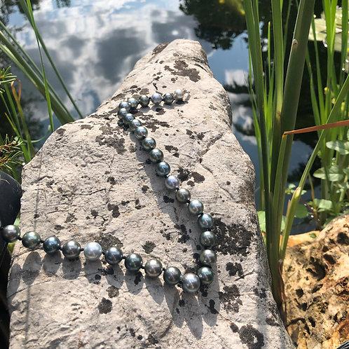 Collier perles de Tahiti rondes 9 à 11 mm