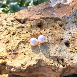 boucles d'oreilles perles de culture sha