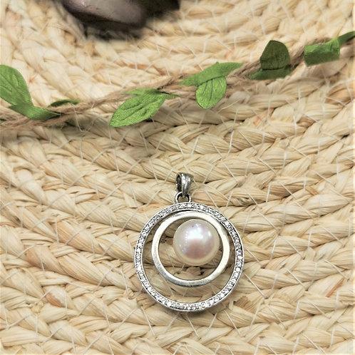 pendentif perle blanche shamani paris