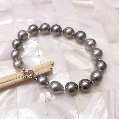 Bracelet perles de Tahiti poires 9/10mm