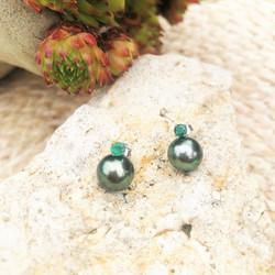 boucles d oreilles perles de tahiti