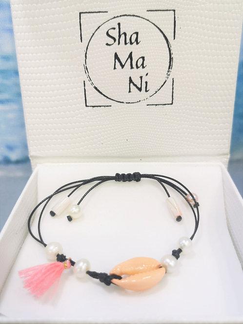 bracelet cordon été copquillage shamani