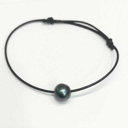Collier perle de Tahiti sur cordon réglable