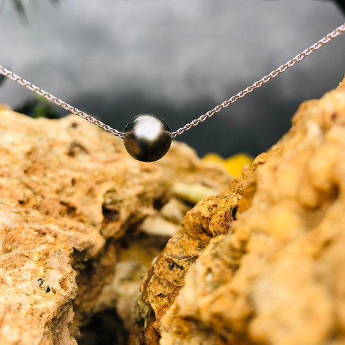 collier perle sur chaine