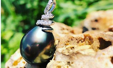 pendentif perle de tahiti poire