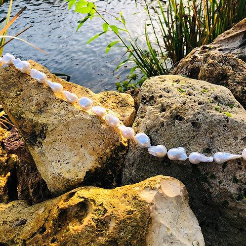 sautoir perles baroques shamani