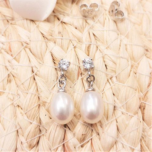 boucles d'oreilles pendantes perles poires shamani creaperles magasin boutique de perles