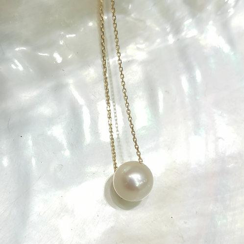 Bracelet Perle de culture blanche sur chaine or jaune