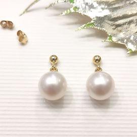 boucles d oreilles perles blanches shama