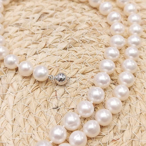 Collier choker perles de culture 7.5-8mm AAA