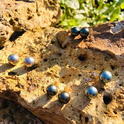 boucles d'oreilles perles de tahiti sham