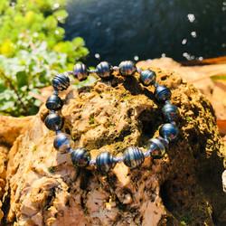 bracelet elastique perles de tahiti sham